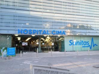 Hospital Sanitas Cima, entrada principal