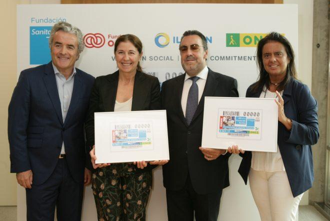 La ONCE dedica un cupón al 20 aniversario de Fundación Sanitas