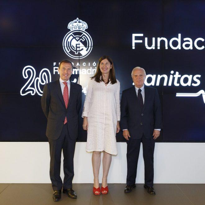 Firma de convenio de la Fundación Sanitas y la Fundación Real Madrid por el deporte inclusivo